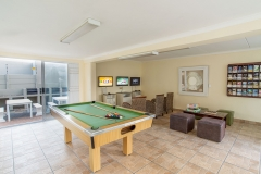 Games room offering pool, darts and video games